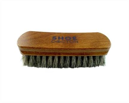 SHOE DOCTOR SHOE BRUSH HORSE HAIR MIDI SIZE with WOODEN HANDLE