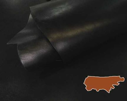 VEG COW SIDE 2.2MM BLACK GREAT CRAFT LEATHER.