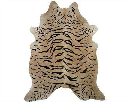 HAIR ON HIDE TIGER PRINT  (rug pictured sent) Free Delivery!