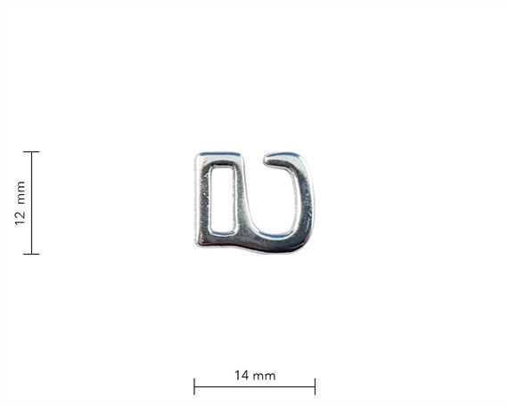 BRA CLIP NICKEL PLATE SMALL