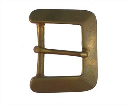 BUCKLE BELT BRASS NO ROLLER SWAGED SIDES 38MM