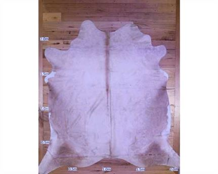 COWHIDE TOP QUALITY NATURAL COLOUR BEIGE (rug pictured sent) Free Delivery!