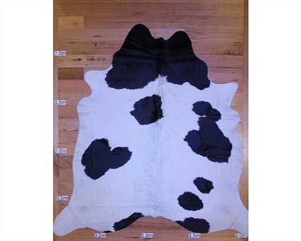 COWHIDE TOP QUALITY NATURAL COLOUR BLACK & WHITE (rug pictured sent) Free Delivery!