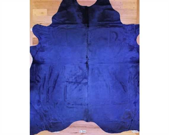 COWHIDE TOP QUALITY DYED NAVY (rug pictured sent) Free Delivery!