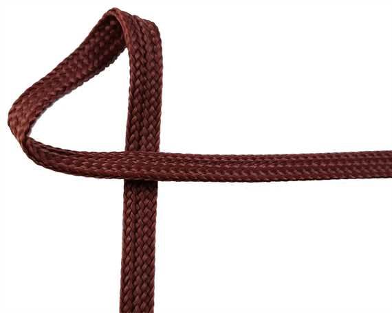 WEBBING DOG LEAD BROWN 7MM (PER L/MTR)