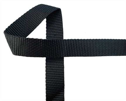 WEBBING POLYPROPELENE BLACK 20MM (PER L/MTR)