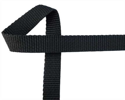 WEBBING POLYPROPELENE BLACK 25MM (PER L/MTR)