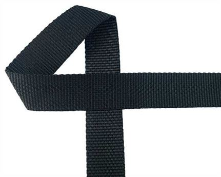 WEBBING POLYPROPELENE BLACK 32MM (PER L/MTR)