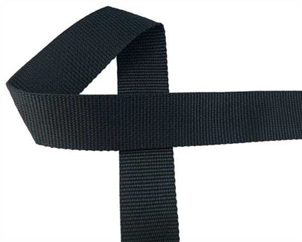 WEBBING POLYPROPELENE BLACK 38MM (PER L/MTR)