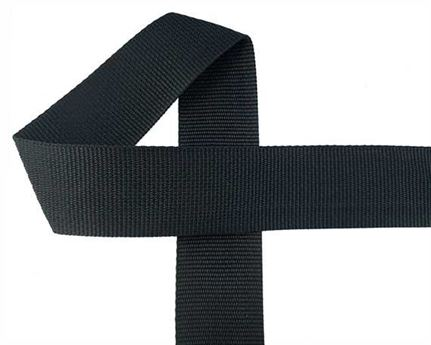 WEBBING POLYPROPELENE BLACK 50MM (PER L/MTR)