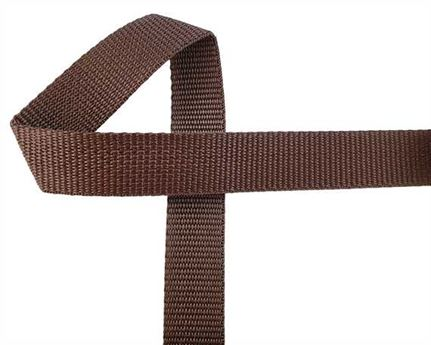 WEBBING POLYPROPELENE BROWN 25MM (PER L/MTR)