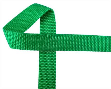 WEBBING POLYPROPELENE EMERALD GREEN G32 25MM (PER L/MTR)