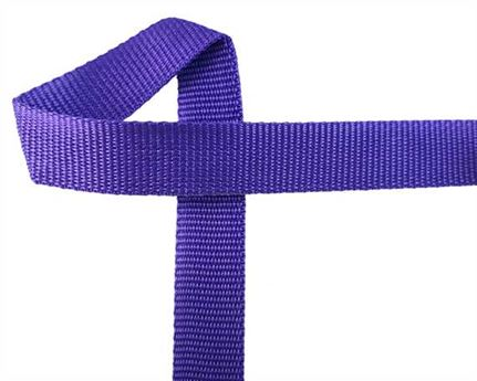 WEBBING POLYPROPELENE PURPLE 25MM (PER L/MTR)