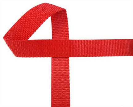 WEBBING POLYPROPELENE RED 25MM (PER L/MTR)
