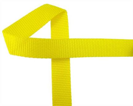 WEBBING POLYPROPELENE YELLOW 25MM (PER L/MTR)