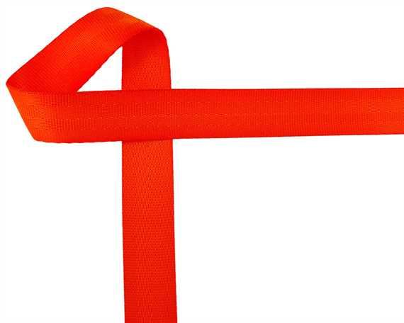 WEBBING SEAT BELT (PER L/MTR) POLYESTER ORANGE 25MM
