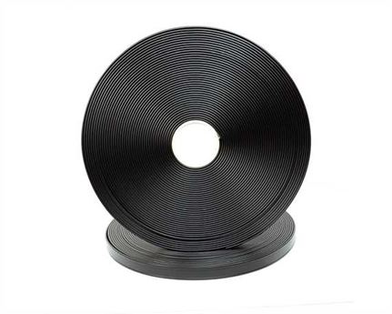 "BETA® 580 TWO GROOVE BioThane® SUPER HEAVY BLACK BL580  (1"") 25MM (PER L/FT)"