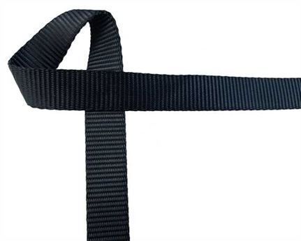 WEBBING POLYESTER HEAVY BLACK 15MM (PER L/MTR)