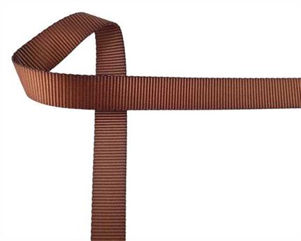 WEBBING POLYESTER HEAVY BROWN #102 25MM (PER L/MTR)