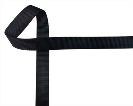 WEBBING POLYESTER HEAVY BLACK 32MM (PER L/MTR)