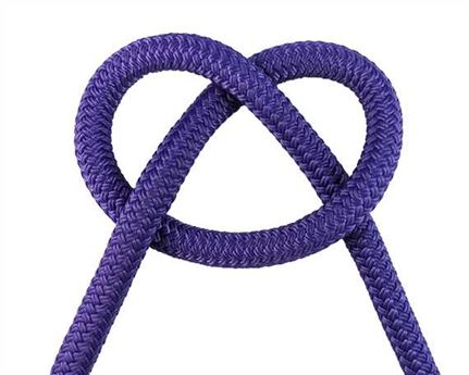 DOUBLE BRAID EQUESTRIAN ROPE 12MM SOLID PURPLE