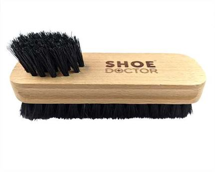 SHOE DOCTOR BRUSH SHOE TWIN TUFFTED with WOODEN HANDLE BLACK COLOUR BRISTLE