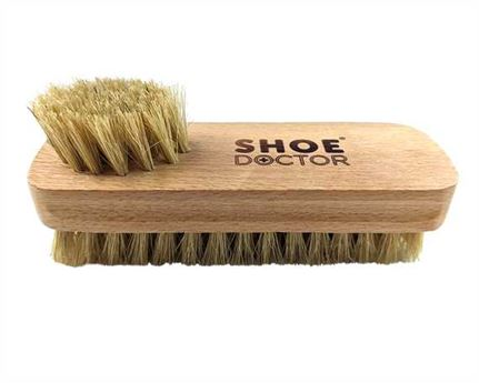 SHOE DOCTOR BRUSH SHOE TWIN TUFFTED with WOODEN HANDLE NATURAL COLOUR BRISTLE