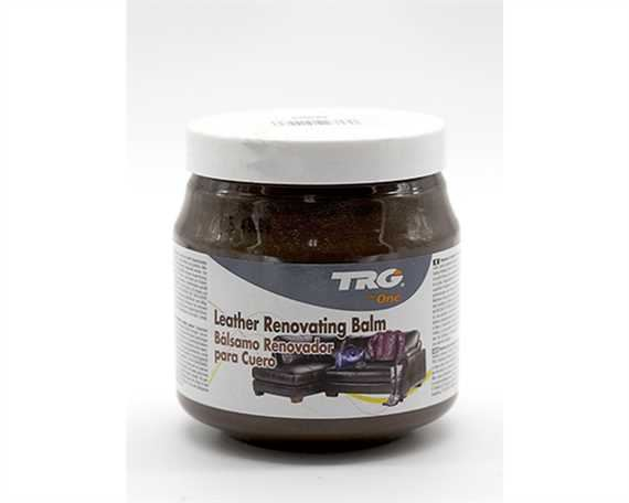 TRG LEATHER RENOVATING BALM 300ML MED.BROWN