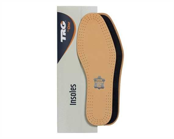 TRG INSOLES ACTIVE LEATHER ACTIVATED CHARCOAL SIZE 37
